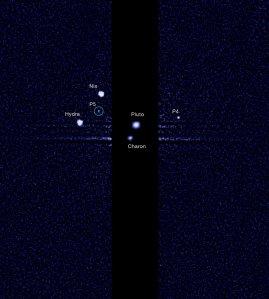 Պլուտոնն ու իր 5 արբանյակներից կազմված «գերդաստանը»: Նկարը ՆԱՍԱ-ի կողմից է: