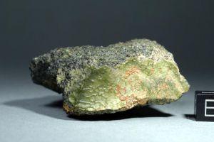 2012թ. Մարոկոյում հայտնաբերված այս կանաչ երկնաքարը կարող է ծագմամբ Մերկուրիից լինելCREDIT: Stefan Ralew/sr-meteorites.de